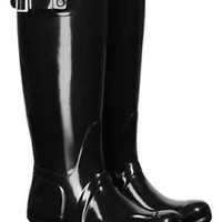 HUNTER ORIGINAL TALL GLOSS BLACK WELLINGTON BOOTS Welly BRAND NEW WITH TAG