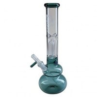Black Leaf - 3-arm Perc Ice Bong with One-Hitter Bowl Diffuser Downstem - Emerald Green - Bongs and Waterpipes - Smoking Pipes - Grasscity.com