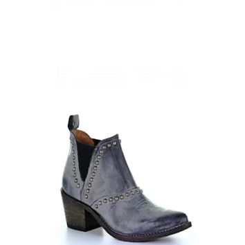 Circle G by Corral Boots Ladies Grey Studs Bootie - Q0141
