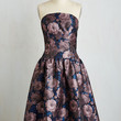 Long Strapless Fit & Flare I've Sheen You Around Dress by Chi Chi London from ModCloth