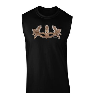 Earth Masquerade Mask Dark Muscle Shirt  by TooLoud