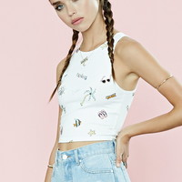 Beach Graphic Crop Top