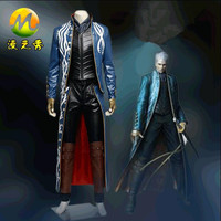 HOT Game Devil May Cry Virgil Cosplay Costume Performance Clothing Halloween Costumes