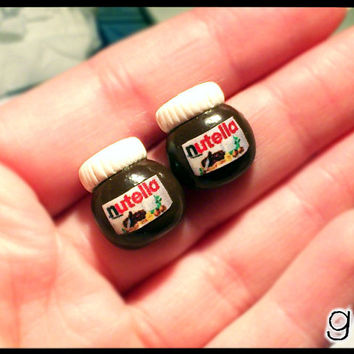 Nutella Inspired Earrings by G Creations