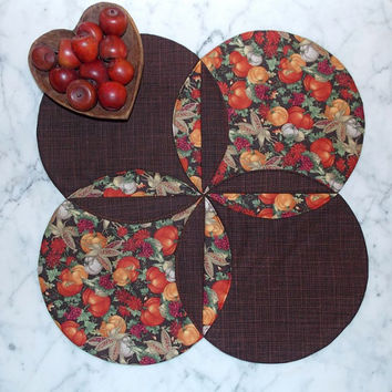 Bountiful Harvest Table Topper Runner Quilt