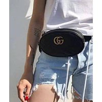 GUCCI women's elegant fashion elegant GG letter pockets metal chain shoulder bag F