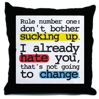 """Rule Number One"" Throw Pillow> Grey's Anatomy TV Store"