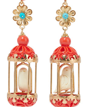 Of Rare Origin - Aviary gold vermeil multi-stone earrings