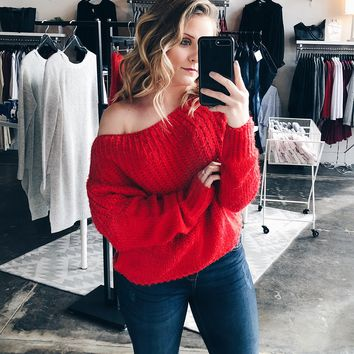 Under My Spell Sweater - Red