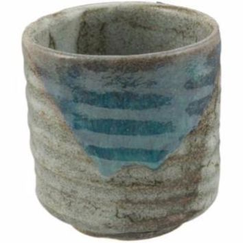 Blue Grey Japanese Tea Cup