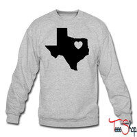 Texas Heart crewneck sweatshirt