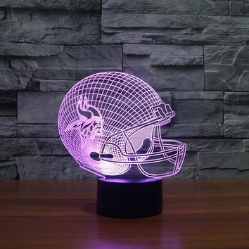 led light furniture 3D American football helmet model for Minnesota Vikings team