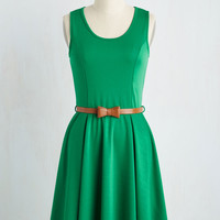 Consistently Charming Dress in Emerald | Mod Retro Vintage Dresses | ModCloth.com