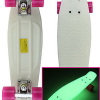 Skateboard GLOW IN THE DARK Plastic Retro Blank City Cruiser NEW Free Shipping!