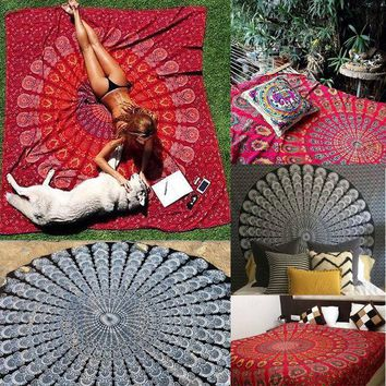 Indian Decor Mandala Tapestry Wall Hanging Hippie Throw Bohemian Twin Bedspread Curtain Beach Towel Yoga Mat Blancket