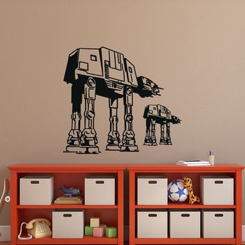 At At Walker Wall Decal- Star Wars At At Walkers Decal- Wall Decal Star Wars- Star Wars Baby Boys Room Wall Decal- Kids Nursery Decor 097
