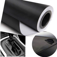 127cmX30cm 3D Carbon Fiber Vinyl Film Car Accessories Motorcycle Carbon Fibre Car Wrap Sheet Roll Film Sticker Decal Car Styling