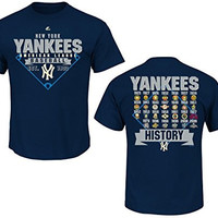 New York Yankees Cooperstown 27x Champions Appreciate the Journey Navy T-shirt Medium