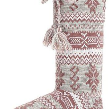 MUK LUKS Womens Tall FleeceLined Slipper Boot