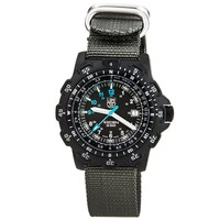 Luminox 8823.KM Mens Land Recon Point Black Dial Nylon Strap Dive Watch