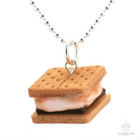 Scented Smores Necklace  Food Jewelry by tinyhands on Etsy