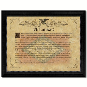Arkansas Vintage History Flag Canvas Print, Picture Frame Gift Ideas Home Décor Wall Art Decoration