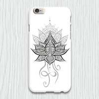 Lotus Flower Mandala Cell Phone Case iPhone 3 3gs 4 4s 5 5s 5c 6 plus Samsung Galaxy s2 s3 s4 mini s5 mini Blackberry Z10 Curve Bold HTC One