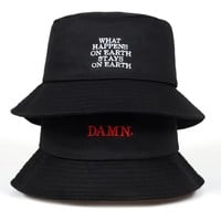 2018 new black bucket hat for women men DAMN embroidery fishermen hat fashion bucket caps brand hats