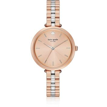 Kate Spade New York Holland Skinny Rose Gold and Silver Tone Watch
