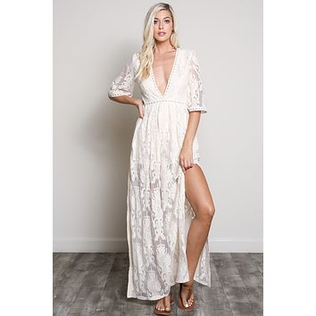 'Angelica' Lace Maxi Dress