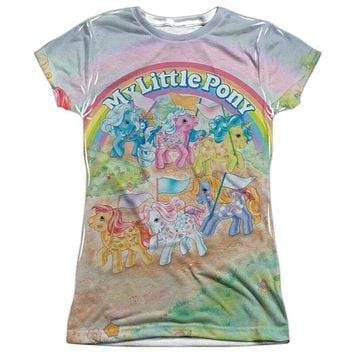 My Little Pony Classic Ponies Juniors Vibrant Sublimation Tee