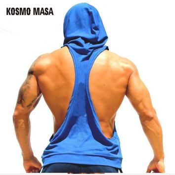 KOSMO MASA Skull ZYZZ Golds Bodybuilding Stringer Hoodies Stringer Men Hoodie Fitness Tank Top Shark Golds Clothing MC0110