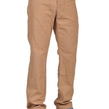 Men Fashion Chino Pants Brown