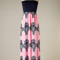 Canal Street Maxi - Pink and Black - Hazel & Olive