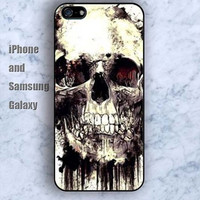 skull Retro iPhone 5/5S Ipod touch Silicone Rubber Case, Phone cover