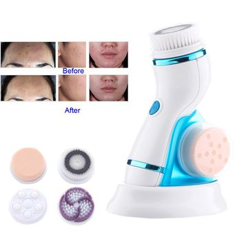 New Deep Facial Cleansing Brush Waterproof Sonic Spin Brushes with Brush Heads Exfoliating Clean System For All People  FM88