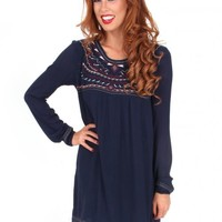 Halfway To Paradise Navy Shift Dress | Monday Dress Boutique