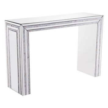 A10417 Mop Console Table Mirror And Beige