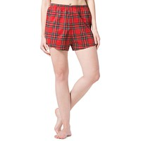 Women's EcoFlannel™ Plaid Sleep /  Lounge Boxer