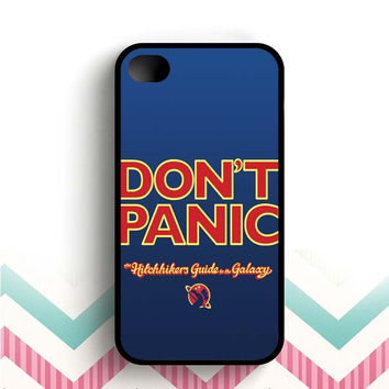 Hitchhikers Guide to the Galaxy Don't Panic  iPhone 4 and 4s case