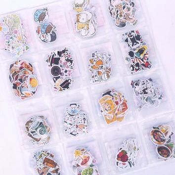 1Pack Kawaii cartoon series Stickers Decoration Sticker pack Office material School stationery notebook diary supplies(tt-2843)