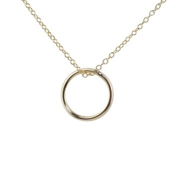 Free Running Circle Thin Necklace