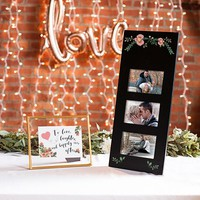 Black Floral Collage Photo Frame