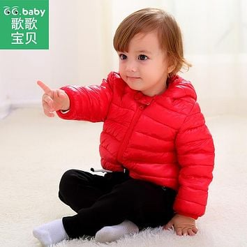 Hooded Warm Kids Winter Jackets For Girls Clothes Down Jacket Newborn Baby Boy Coat Zipper Snowsuit Children's Overalls Clothing