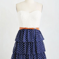 ModCloth Americana Strapless A-line The Way You Sway Dress