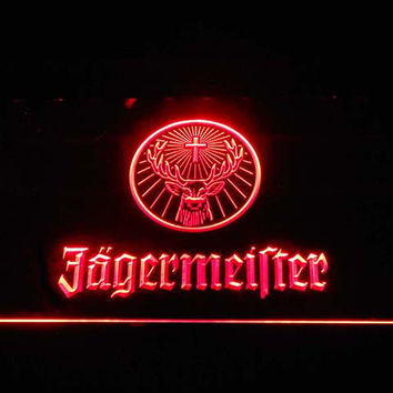 Jagermeister Deer head logo LED Neon Light Sign 7 colors