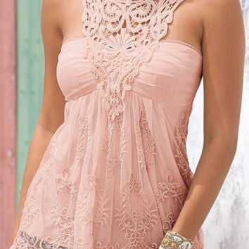 Women sexy tops lace hollow tank see-htrough O-neck sleeveless feminines torpical tank top