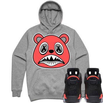 INFRARED BAWS Sneaker Hoodie - Jordan Retro 6 Black Infrared 2019
