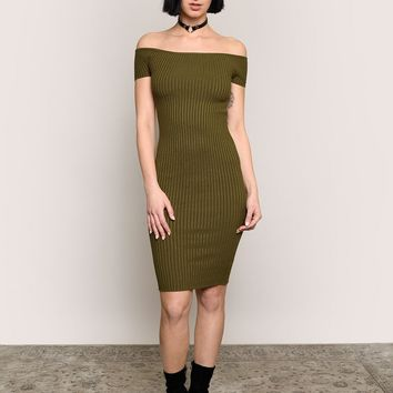 Easy Street Midi Dress - Olive - New at Gypsy Warrior