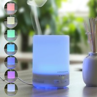 300ml Aroma Essential Oil Diffuser,URPOWER Ultrasonic Air Humidifier with AUTO Shut off and 6-7 HOURS Continuous Diffusing - 7 Color Changing LED Lights and 4 Timer Settings for Home SPA Baby Room